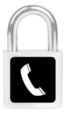 Lock with a telephone