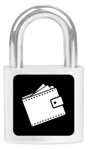 Lock with a wallet