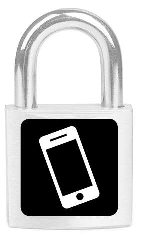 Lock with a mobile phone