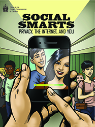 Graphic novel cover: Social Smarts: privacy, the Internet and you