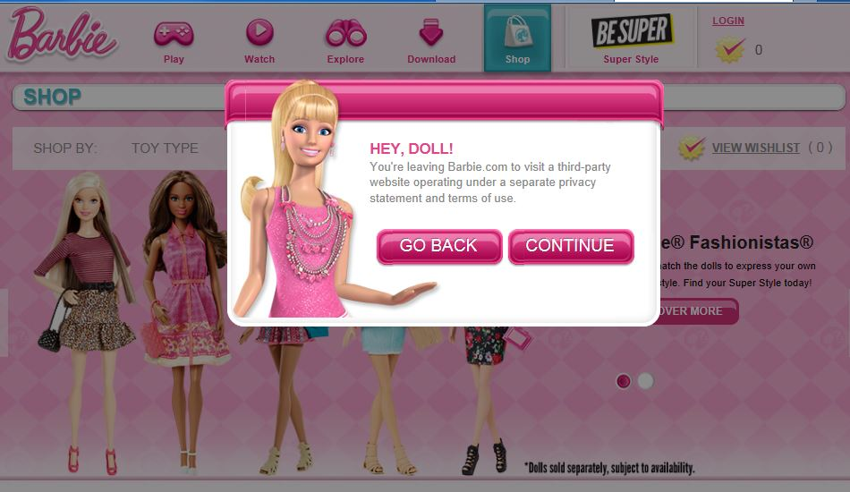 Barbie.com image.